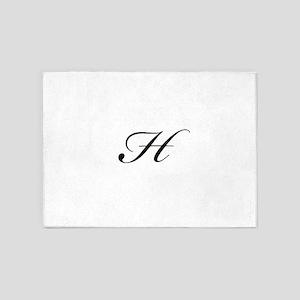 Bickham Script Monogram H 5'x7'Area Rug