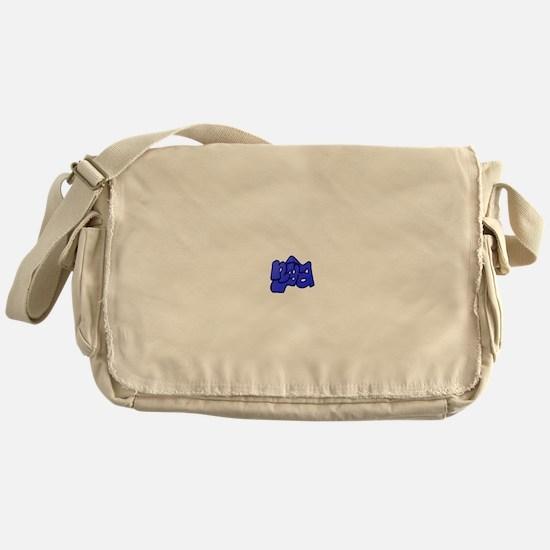 nya Blue Messenger Bag