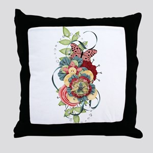 Passion Butterfly Throw Pillow