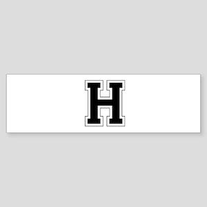 Collegiate Monogram H Bumper Sticker