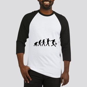 Evolution of the soccer player Baseball Jersey