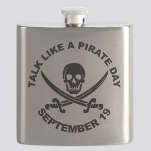 Talk Like A Pirate Day Flask