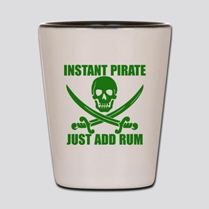 Green Instant Pirate Shot Glass