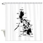 phislandsDarkonLtcrop Shower Curtain