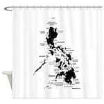 phislandsDarkonLtcrop Shower Curtain