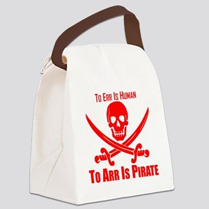 To Arr Is Pirate Red Canvas Lunch Bag