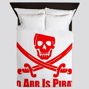 To Arr Is Pirate Red Queen Duvet
