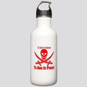 To Arr Is Pirate Red Water Bottle