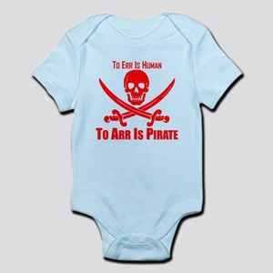 To Arr Is Pirate Red Body Suit