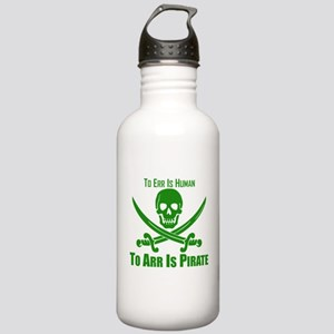 To Arr Is Pirate Green Water Bottle
