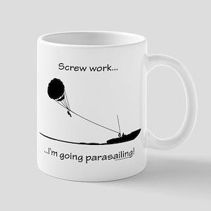 Screw Work, I'm Going Parasailing Mug
