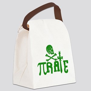 Pi-rate Green Canvas Lunch Bag