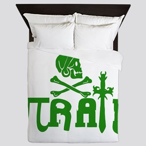 Pi-rate Green Queen Duvet