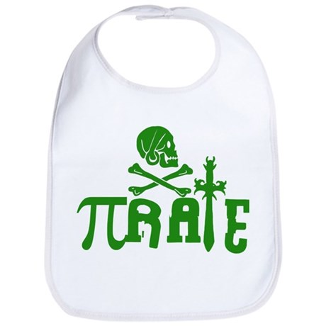 Pi-rate Green Bib