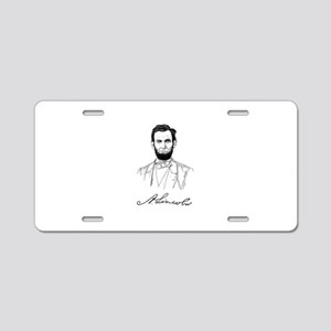ABRAHAM LINCOLN Aluminum License Plate