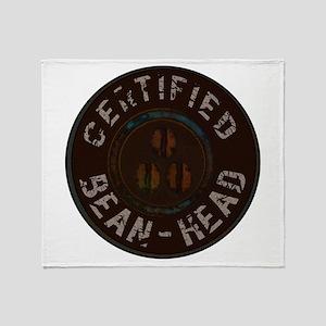 certified beanhead Throw Blanket