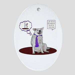 Husky Birthday Oval Ornament