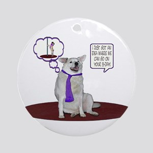 Husky Birthday Ornament (Round)
