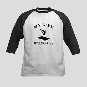 My Life Gymnastics Kids Baseball Jersey