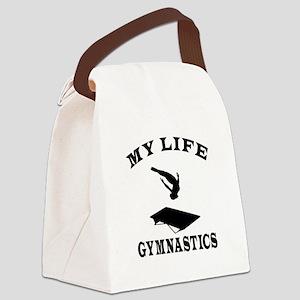 My Life Gymnastics Canvas Lunch Bag