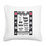 A Drive In Movie Square Canvas Pillow