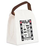 A Drive In Movie Canvas Lunch Bag