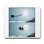 Santa hits moon Mousepad