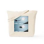 Santa hits moon Tote Bag