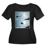 Santa hits moon Plus Size T-Shirt
