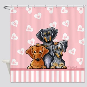 Doxie Trio Shower Curtain
