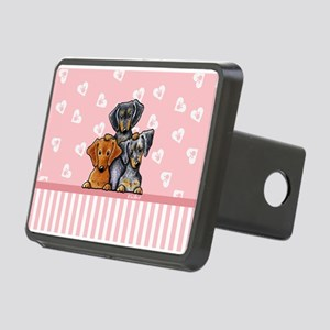 Doxie Trio Rectangular Hitch Cover