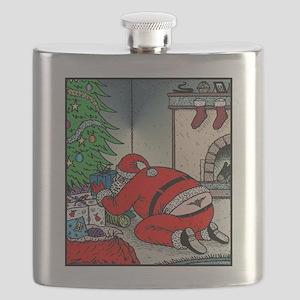 Santas tramp stamp Flask