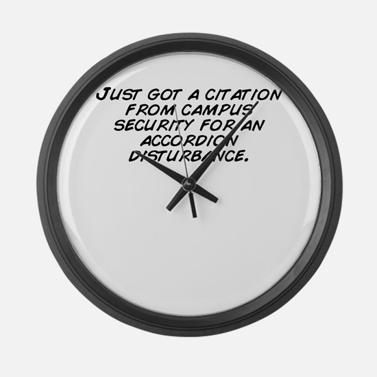 Cute Campus security Large Wall Clock
