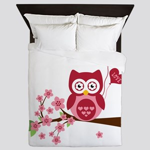 Owl LOVE Queen Duvet