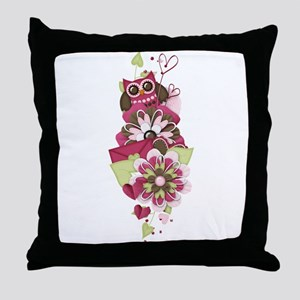 Owl Love Letters Throw Pillow