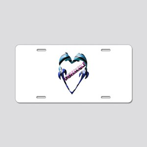 "Dolphin Heart ""Unbreakable"" 2 ~ Aluminum License P"
