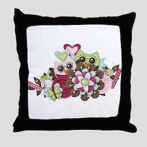 Owl Wonders Throw Pillow