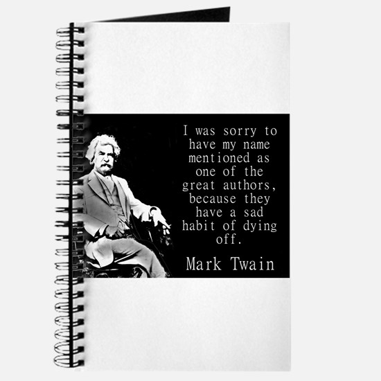 I Was Sorry To Have My Name Mentioned - Twain Jour