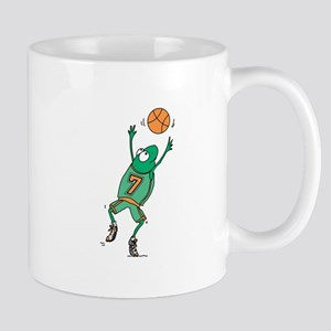 Cute Frog Basketball Player Mug