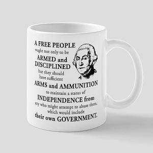 Washington Quote - A Free People Mug