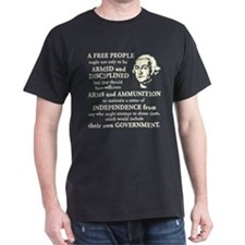 Washington Quote - A Free People Dark T-Shirt