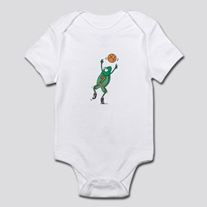 Cute Frog Basketball Player Infant Bodysuit