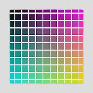 Color Grid Queen Duvet