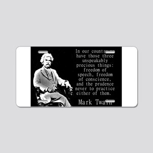 In Our Country - Twain Aluminum License Plate