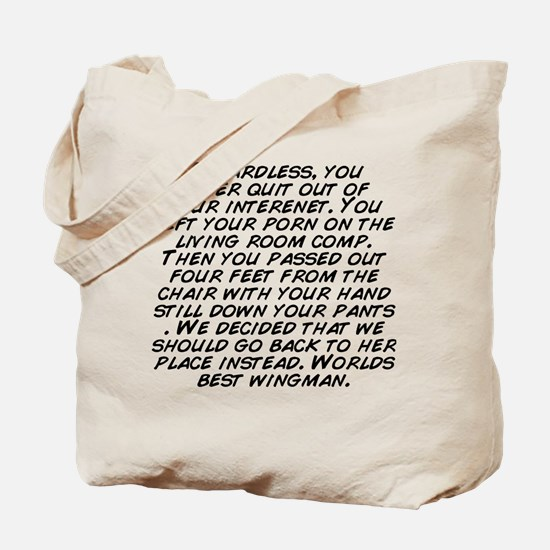 Unique From the left Tote Bag
