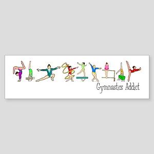 Gymnastics Addict Bumper Sticker