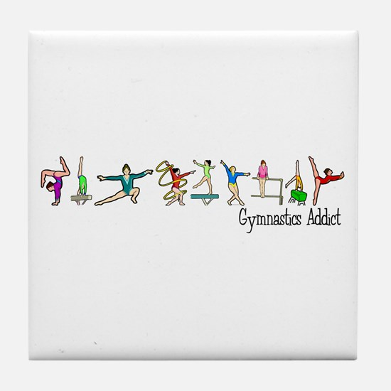 Gymnastics Addict Tile Coaster