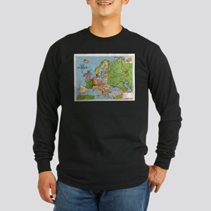 Map of Europe Long Sleeve T-Shirt