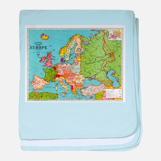 Map of Europe baby blanket