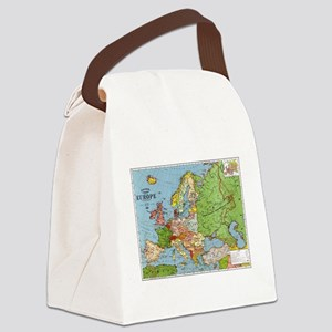 Map of Europe Canvas Lunch Bag